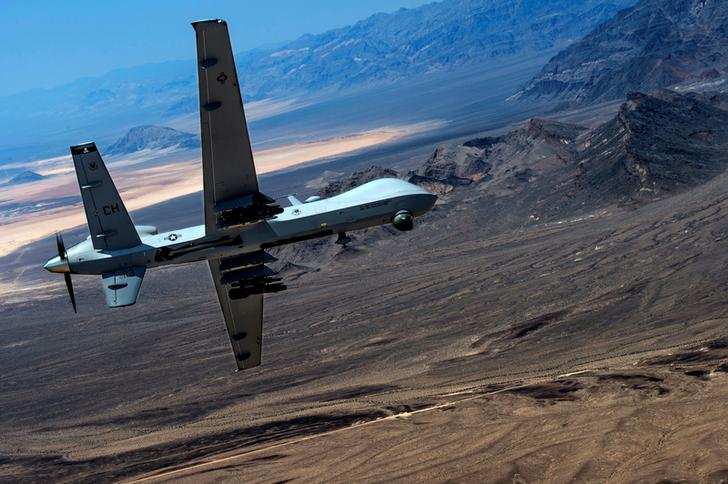 Un drone MQ-9 Reaper durante un volo in Nevada.Air Force/Senior Airman Cory D. Payne/Handout via REUTERS