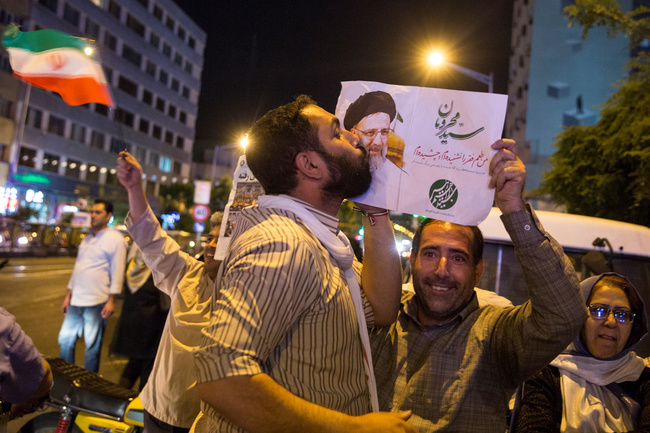 A supporter of Ebrahim Raisi, a potential candidate in the Iranian presidential elections in 2021. TIMA via REUTERS/Contrast