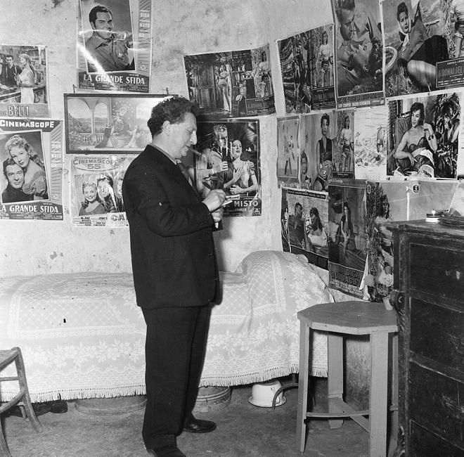 Carlo Levi fotografato da Egidio Vaccaro