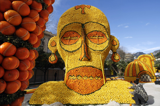 Lemon Festival in Menton, France. Photo REUTERS/Eric Gaillard
