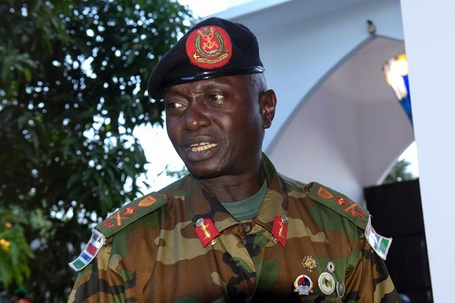 Gambian Army chief General Ousman Badjie. PHOTO: SEYLLOU/AFP