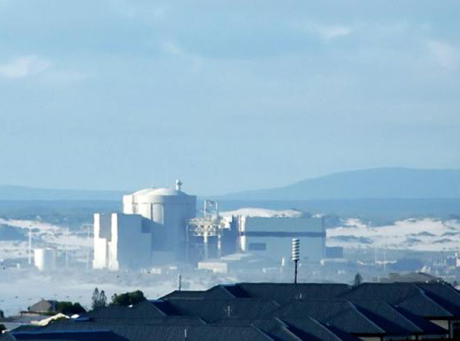 A general view of Koeberg Nuclear Power Station, Cape Town, South Africa. Photo credit: AFP