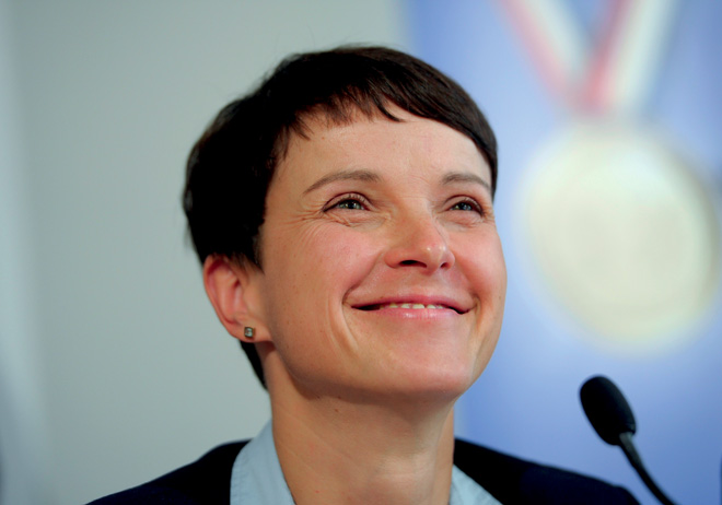 Frauke Petry, the young leader of Alternative für Deutschland (AfD), has led her political party to a successful showing in the recent German elections. REUTERS/CONTRASTO/STEFANIE LOOSREUTERS/CONTRASTO/STEFANIE LOOS