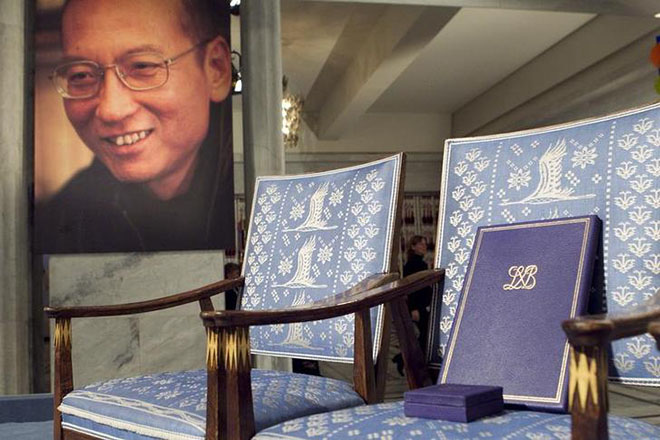 "Chinese dissident Liu Xiaobo was awarded the Nobel Peace Prize and dedicated it to the ""lost souls"" of the 1989 Tiananmen Square crackdown. REUTERS/Heiko Junge/Scanpix"