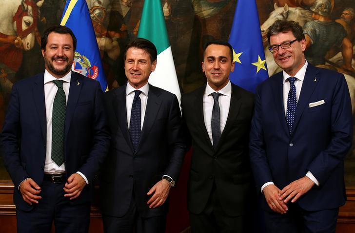 Risultati immagini per Governo Conte Salvini Di Maio Giorgetti