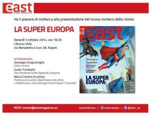 East 55 – Presentazione a Napoli il 3 ottobre 2014