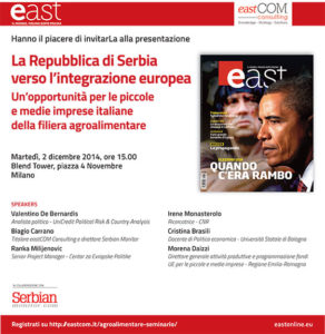 Presentazione a Milano il 2 dicembre
