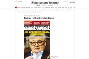 Una start-up che racconta il mondo, così la stampa tedesca presenta Eastwest