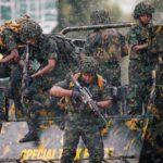 Membri dello Special Task Force dello Sri Lanka. REUTERS / Dinuka Liyanawatte