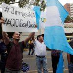 Proteste in Guatemala contro la decisione del presidente Jimmy Morales di non rinnovare il mandato alla International Commission Against Impunity. REUTERS/Luis Echeverria