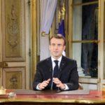 Il presidente francese Emmanuel Macron durante il discorso rivolto alla nazione lo scorso 10 dicembre. Ludovic Marin/Pool via REUTERS