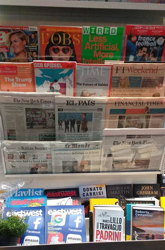 The international press of January the 7th: Us and Europe