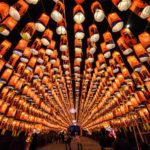 Persone camminano attraverso un tunnel decorato con lanterne a uno spettacolo di luci per celebrare l'imminente Capodanno Lunare cinese, Xian, Shaanxi, Cina, 1 febbraio 2019. REUTERS/Stringer