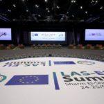 Il Centro Congressi Internazionale che ospita il primo vertice tra la Lega Araba e l'Unione Europea, Sharm El Sheikh, Egitto, 23 febbraio 2019. REUTERS/Mohamed Abd El Ghany