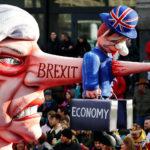 """Il Primo Ministro britannico Theresa May è raffigurata durante la sfilata """"Rosenmontag"""" (Rose Monday) a Dusseldorf, Germania, 4 marzo 2019. REUTERS/Wolfgang Rattay"""