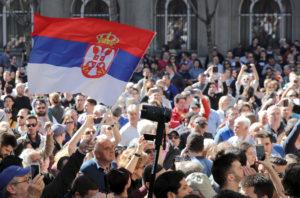 Serbia, Montenegro e Albania in piazza