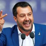 Matteo Salvini affronta un importante raduno dei partiti nazionalisti europei e di estrema destra in vista delle elezioni parlamentari europee a Milano, Italia, 18 maggio 2019. REUTERS/Alessandro Garofalo