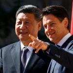 Il Presidente cinese Xi Jinping e il Primo Ministro italiano Giuseppe Conte a Villa Madama, Roma, 23 marzo 2019. REUTERS/Yara Nardi