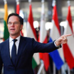 Il premier olandese Mark Rutte. In un discorso all'università di Zurigo, Rutte ha insistito sulla necessità che l'Europa resti unita per affrontare in maniera più concreta le sfide della politica estera. REUTERS/Toby Melville/Contrasto