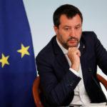 Il vicepremier italiano Matteo Salvini durante una conferenza. REUTERS/Remo Casilli/Contrasto