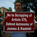 Una protesta contro abolizione dello status speciale del Kashmir, agosto 2019. Reuters. Foto di Rupak De Chowdhury