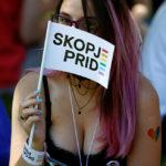 Il primo Gay Pride in Macedonia del Nord, giugno 2019. Reuters. Foto di Ognen Teofilovski