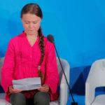 L'attivista svedese di 16 anni Greta Thunberg parla al Climate Action Summit presso la sede delle Nazioni Unite a New York City, New York, Stati Uniti, 23 settembre 2019. REUTERS/Lucas Jackson