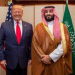 Il Principe Saudita Mohammed bin Salman insieme a Donald Trump. Bandar Algaloud/Courtesy of Saudi Royal Court/Handout