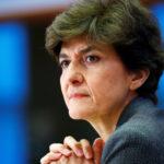 Il Commissario europeo designato per il mercato interno Sylvie Goulard partecipa alla sua seconda udienza dinanzi al Parlamento Europeo a Bruxelles, Belgio, 10 ottobre 2019. REUTERS/Francois Lenoir