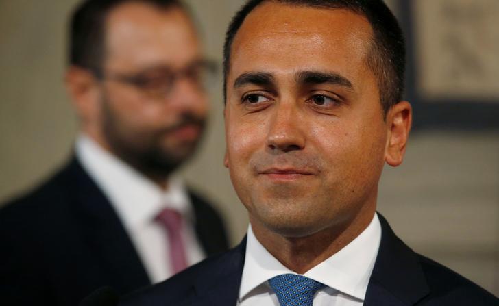 Il Ministro degli Esteri e leader del Movimento 5 Stelle Luigi di Maio a Roma, Italia. REUTERS/Ciro de Luca