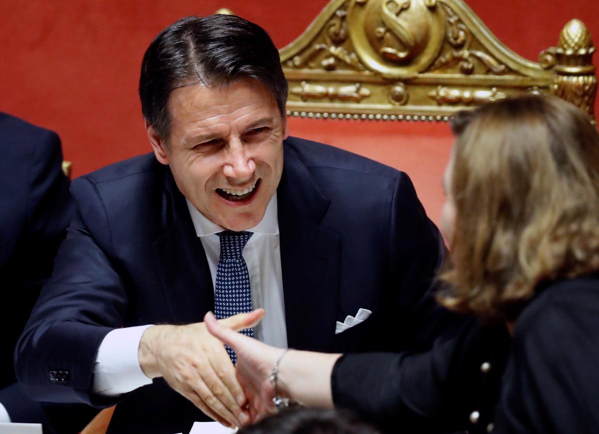 Il Presidente del Consiglio Giuseppe Conte. REUTERS/Remo Casilli