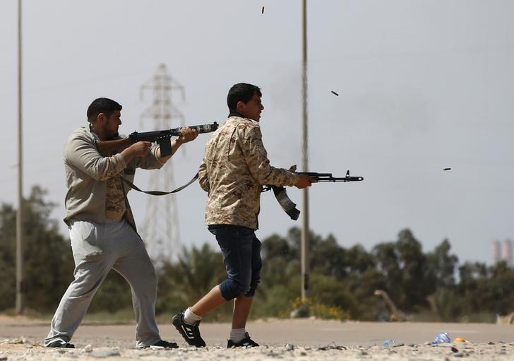 Combattenti di Misurata. REUTERS/Goran Tomasevic